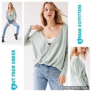 Out From Under Callie Draped Surplice Women Top